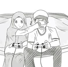Insh Allah Hahaha nice one Cute Muslim Couples, Cute Couples, Couple Cartoon, Girl Cartoon, Couple Goals Tumblr, Couples Anime, Hijab Drawing, Islamic Cartoon, Anime Muslim