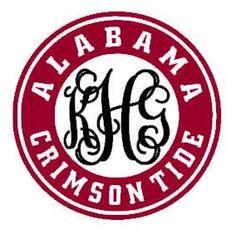 Monogram Alabama Crimson Tide Decal