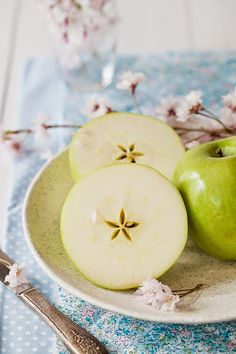 Green Apple Salad with Celery, Pecans & Honey at Cooking Melangery