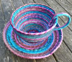 coiled fabric baskets - Google Search                                                                                                                                                                                 More