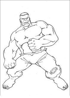 Disegni da colorare per bambini Hulk 20