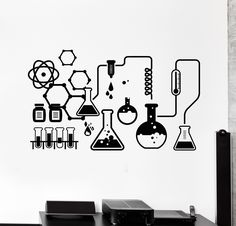 Vinyl Wall Decal Science Chemical Lab Scientist Chemistry School Stickers (ig4682)
