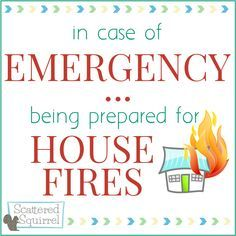 Fire Safety  Being Prepared For House Fires  Evacuation Plan