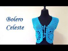 CHALECO CELESTE TEJIDO - YouTube