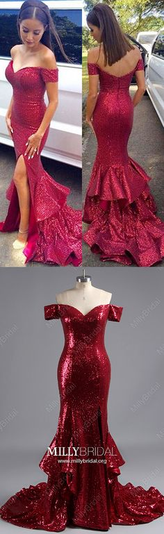 Long Prom Dresses,Sexy Prom Dresses with Sleeves,Mermaid Prom Dresses With Slit,Off-the-shoulder Prom Dresses Sequined,Cheap Prom Dresse Read more / http://www.websiteforshopping.blogspot.com