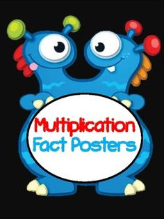 Check out these amazing monster multiplication fact posters that lists all of the multiplication facts with factors up to 12 and it lists the product.  This will make a colorful addition to your classroomIncluded in this kit at1's fact poster2's fact poster3's fact poster4's fact poster5's fact poster6's fact poster7's fact poster8's fact poster9's fact poster10's fact poster