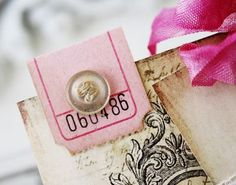 tickets as tabs. Plus I like how this is an authentic old button with the old threads still in place. Smash Book, Book Journal, Journal Cards, Art Journals, Vintage Journals, Education Journals, Garden Journal, Art Education, Journal Ideas