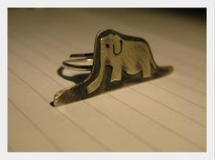 "jewel/ handmade/ ring/ 925 silver/ ""elephant eaten by a boa""/ little prince"