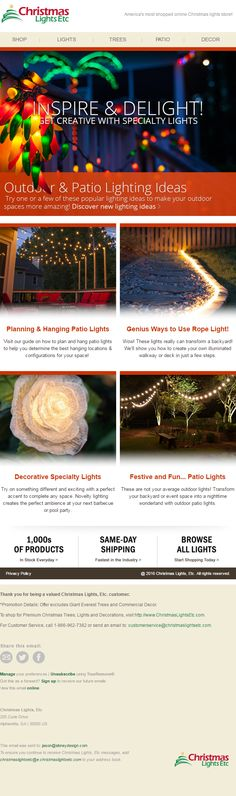 Email Marketing for Christmas Lights, Etc. Email Marketing, Christmas Lights, How To Find Out, Christmas Fairy Lights