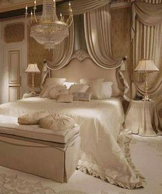 150 Awesome Romantic Master Bedroom Design Ideas You Have To Try - Page 3 of 150 Dream Rooms, Dream Bedroom, Home Bedroom, Bedroom Furniture, Bedroom Ideas, Lux Bedroom, Queen Bedroom, Fancy Bedroom, Royal Bedroom