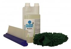 CLEANOFANT Shampoo 1 L + Mikrofaser-Reinigungshandschuh ultraweich + Wasserabzieher  Außen-Reinigung und Oberflächen-Versiegelung in einem Arbeitsgang. Die perfekte Wohnwagen- und Wohnmobil-Pflege: Das Shampoo löst schnell und zuverlässig Schmutz und Insekten, konserviert und sorgt für strahlenden Glanz. Enthält Wachs. Set mit Mikrofaser-Reinigungshandschuh und Wasserabzieher.