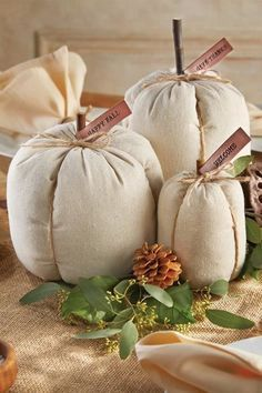 Linen Pumpkins: Add