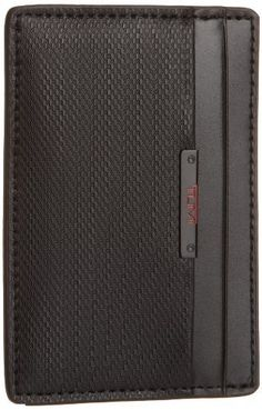 Tumi Men's Quantum Money Clip Card Case Wallet, Black, One Size TUMI. $75.00. 1 money clip. Made in China. Black Tumi logo. 3 credit card pockets. 100% Leather. 100% Leather. Hand Wash