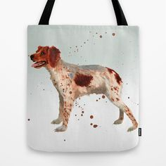 Brittany Spaniel TOTE bag ! BUY now - just click on the image above - only $22! Click on image to BUY! Only  - perfect dog lover gift - #dog #lover #gift #puppy #lover #gift #animal #lover #gift #doggygifts #watercolor #dog #painting #watercolour #dog #brittany #spaniel #spaniel #bag #tote