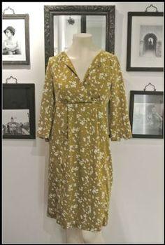 Noa Noa Very Viscose Flower Tunic Dress 1-3107-1 in Wasabi £89