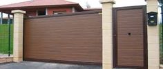 Image result for rejas y portones modernos para casas minimalistas Main Gate Design, House Gate Design, Gate House, Door Design, Exterior Design, Interior And Exterior, Modern Entrance Door, Grill Gate, Gates And Railings