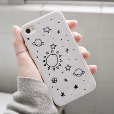 Diy phone case ideas iphone products Ideas for 2019 Iphone 3, Coque Iphone, Iphone Cases, Free Iphone, Drawing Planets, Cool Cases, Cute Phone Cases, Sharpie Phone Cases, Diy Sharpie