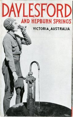 This tourism poster was promoted by the Victorian Railways and the  Daylesford and Hepburn Springs Tourist Bureau in 1936