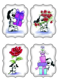 Barkley -- gift tags -- I'm pinning these images whole, but you can crop down to the one you wish to use in CW ;)