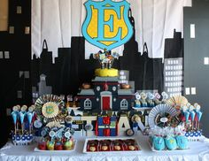 "Over the top Police/Super Hero party - but some cool decorating ideas  Photo 1 of 39: Police Party, Super Hero / Birthday ""When I Grow Up - Super Hero / Police Officer Birthday Party"" 