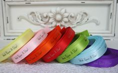 Personalised Ribbon printed by The Ribbon Reel