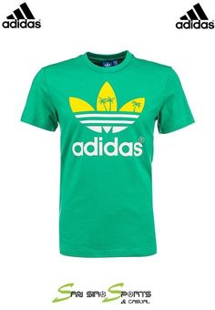 Adidas OriginalsT-shirt Short Sleeve Palm Logo Trefoil Tee - Surf Green  S19314 948c17cae1ebd