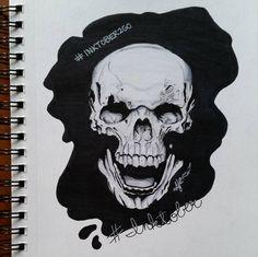 Vampire Skull Drawing by Artdynamo