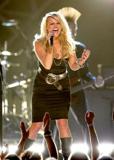 Miranda Lambert! This gal can rock the stage, best concert I have ever been to!! This is what I want to do with my life, rock out stages all across the world and let people feel my music...I think Miranda has inspired me to go after my dream.