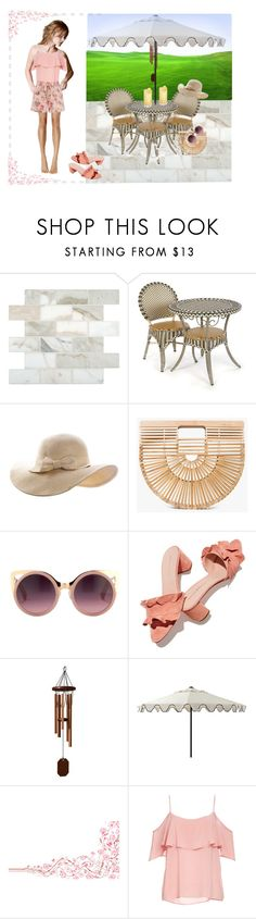 """""""Uh, oh, my shoes..."""" by leaff88 ❤ liked on Polyvore featuring MacKenzie-Childs, Cult Gaia, Erdem, Loeffler Randall, DutchCrafters, Ballard Designs and BB Dakota"""
