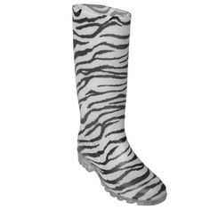 Journee Collection Women's Zebra Print Rain Boots - Size 8 - Boots $26.14