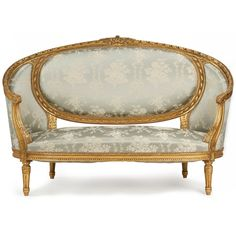 Fine French Louis XVI Style Giltwood Antique Canape Sofa Settee Chaise C 1900 | eBay