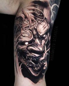 Pin od ⛧ liøʀ ⛧ na hαɳɳყα mαʂƙ forearm tattoos, tattoos i warrior tattoos. Hannya Maske Tattoo, Oni Mask Tattoo, Samurai Mask Tattoo, Hanya Tattoo, Demon Tattoo, Warrior Tattoos, Cool Forearm Tattoos, Badass Tattoos, Leg Tattoos