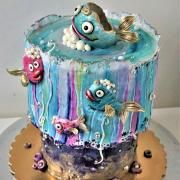 fairy tale - cake by Torty Zeiko Little Cakes, Cake Art, How To Make Cake, Fairy Tales, Cake Decorating, Hand Painted, Illustration, Daily Inspiration, Type 3