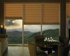 Create a memorable moment and dining room ambiance with Vignette® Modern Roman Shades ♦ Hunter Douglas window treatments Hunter Douglas Vignette, Family Room Design, Contemporary Windows, Modern Shade, Contemporary Window Treatments, Modern, Window Coverings, Window Styles, Modern Roman Shades