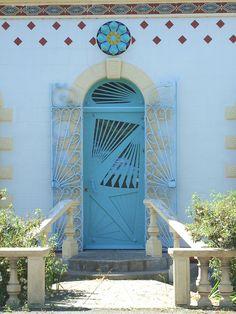 Art Nouveau Door (Brittany, France)