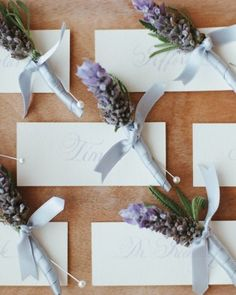 """See the """"Lavender Boutonnieres"""" in our The Best Boutonnieres gallery"""