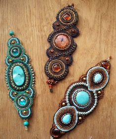 Beautiful embroiderd jewelry by Nataly Uhrin (Part 5)