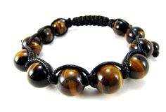12mm All Authentic Tiger Eye Bead Adjustable Bracelet + Gift Box by Miami Jewels -- Awesome products selected by Anna Churchill