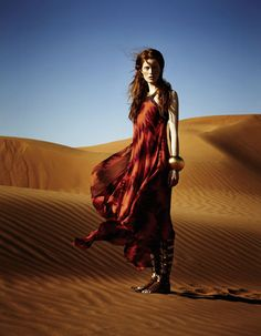 Ilva Hetmann | Sam Bisso | Elle Germany June 2012 | Desert Goddess - 3 Sensual Fashion Editorials | Art Exhibits - Anne of Carversville Women's News