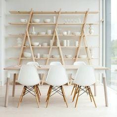 Moderne #strakke #witte #eettafel #stoelen . More