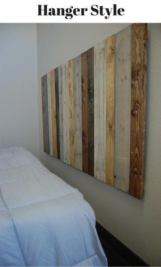 Queen Size Headboard, White Headboard, Oak Stain, Dark Walnut Stain, California King, Wall Behind Bed, Handmade Headboards, Bed Picture, Double Bed Size