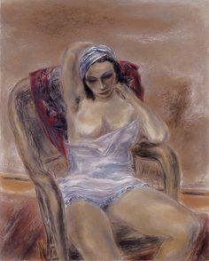Yasuo Kuniyoshi 国吉 康雄 (Japan 1893-1953 USA) Girl Thinking (1935)