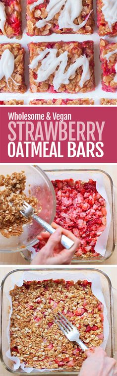 Easy Healthy Strawberry Oatmeal Bars