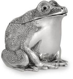 An Elizabeth II sterling silver toad-form inkwell by Harman & Lambert, London, 1967