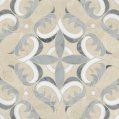 Acanthus waterjet mosaic by Appomattox Tile Art