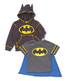 Another great find on #zulily! Gray Batman Hoodie & Cape Tee - Toddler #zulilyfinds