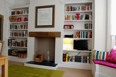 Alcove bookcase idea, but would want it in oak (maybe??)