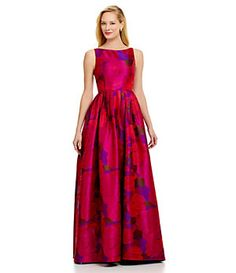 Adrianna Papell Sleeveless Floral Gown | Dillard's Mobile