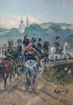 Poniatowski/'s Last Charge at Leipzig 1812 by Woodville 7x5 Inch Print