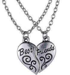 Best Friend BFF Heart Necklace Set from Rana Jabero